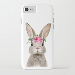 Baby Rabbit with Flower Crown iPhone Case