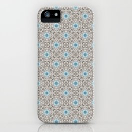 Blue and Gray Geometric - Star Pattern iPhone Case