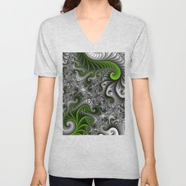 Fantasy World, abstract Fractal Art Unisex V-Neck