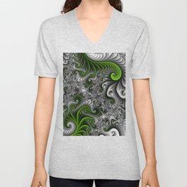 Fantasy World, abstract Fractal Art Unisex V-Neck