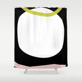 Sun hole snake Shower Curtain
