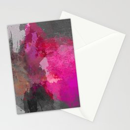 Gray pink abstract Stationery Cards