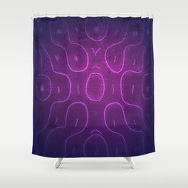 Chladni Pattern - Purple by Spencer Gee Shower Curtain