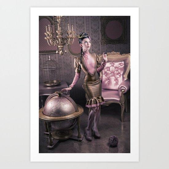 DREAMS OF GOLD AND PINK Art Print