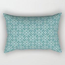 Abstract Arabic ornament doodles hand drawn line art illustration pattern Rectangular Pillow
