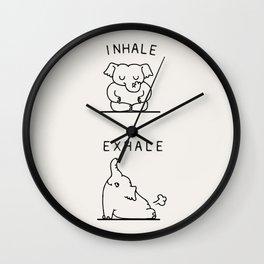Inhale Exhale Elehant Wall Clock