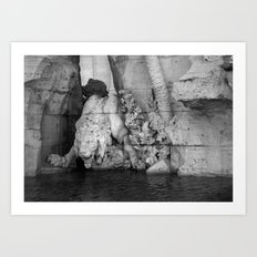born in rome Art Print