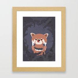 Hungry Raccoon Framed Art Print