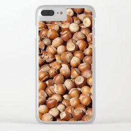 Hazelnuts pattern Clear iPhone Case