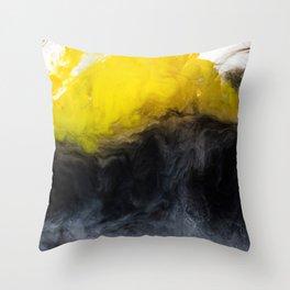 Vivid Mix Of Ink Clouds Throw Pillow