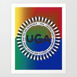United Gang members of America Art Print