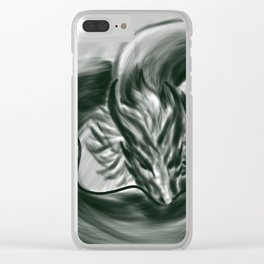 The One Wish Dragon Clear iPhone Case