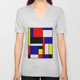 Mondrian #70 Unisex V-Neck