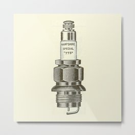 Spark plug. Metal Print