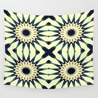 chic Wall Tapestries featuring Tropical Paradise Flower Mandala Pattern by 2sweet4words Designs