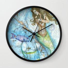 Key Largo Mermaid Wall Clock