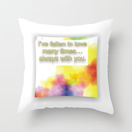Fallin in Love Throw Pillow