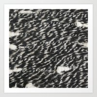black and white twisted wool Art Print