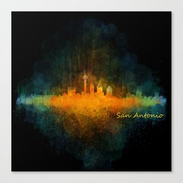 San Antonio City Skyline Hq v4 Canvas Print