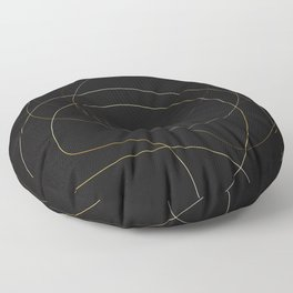 Opulence Black and Gold Floor Pillow