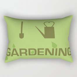 I heart Gardening Rectangular Pillow