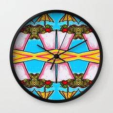 Miami Vice - Tropical Drink - Beach Cocktail - daiquiri Wall Clock