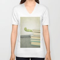 books V-neck T-shirts featuring Books by Pure Nature Photos