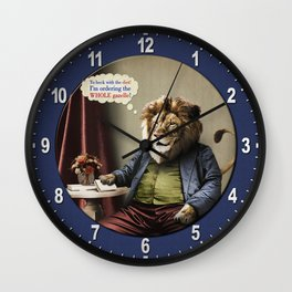 Hungry Lion Wall Clock