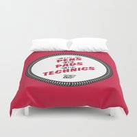 hiphop Duvet Covers featuring HIPHOP ANTHEM : From Pens To Pads To Technics by Lbert
