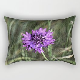 Cornflowers in cornfield Rectangular Pillow