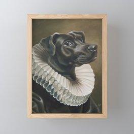 Portrait of a Young Doggo Framed Mini Art Print