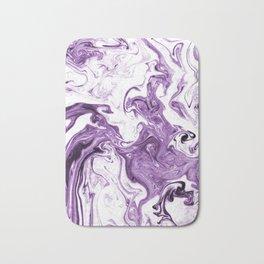 Marble Suminagashi lilac 4 watercolor pattern art pisces water wave ocean minimal design Bath Mat