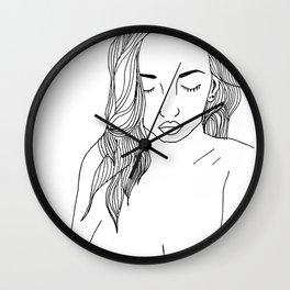 Nude Lines Wall Clock