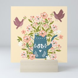 Happy Birds Making Things Beautiful Together Mini Art Print