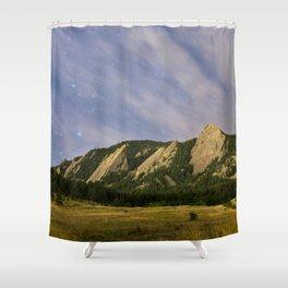 Starry Flatirons Shower Curtain
