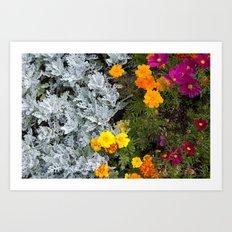 Flowerbed Art Print