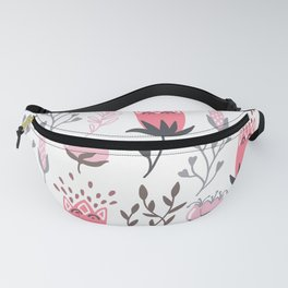 Pink and Gray Tulips Fanny Pack