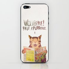 WOLVERINE! FISRT A'PURR'ANCE! iPhone & iPod Skin