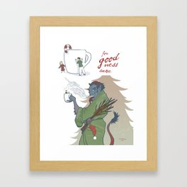 A Kup of Krampus Framed Art Print