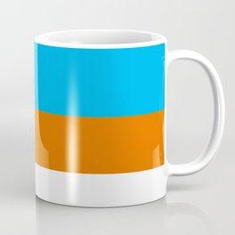 Square Tri-Color [Blue, Orange, White] Coffee Mug