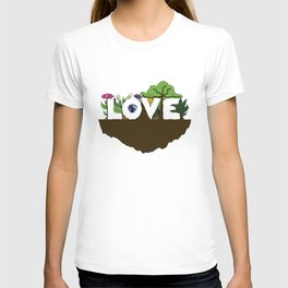Love for Nature in Negative Space T-shirt