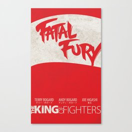 Fatal Fury Minimal: (The King of Fighters XIII teams series) Canvas Print