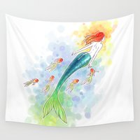 under the sea Wall Tapestries featuring Under the Sea by Freeminds