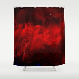 Red And Black Abstract Gothic Glam Chic Shower Curtain