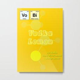 Vodca Lemon Metal Print