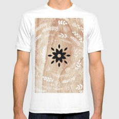 Sunny Cases II White Mens Fitted Tee MEDIUM