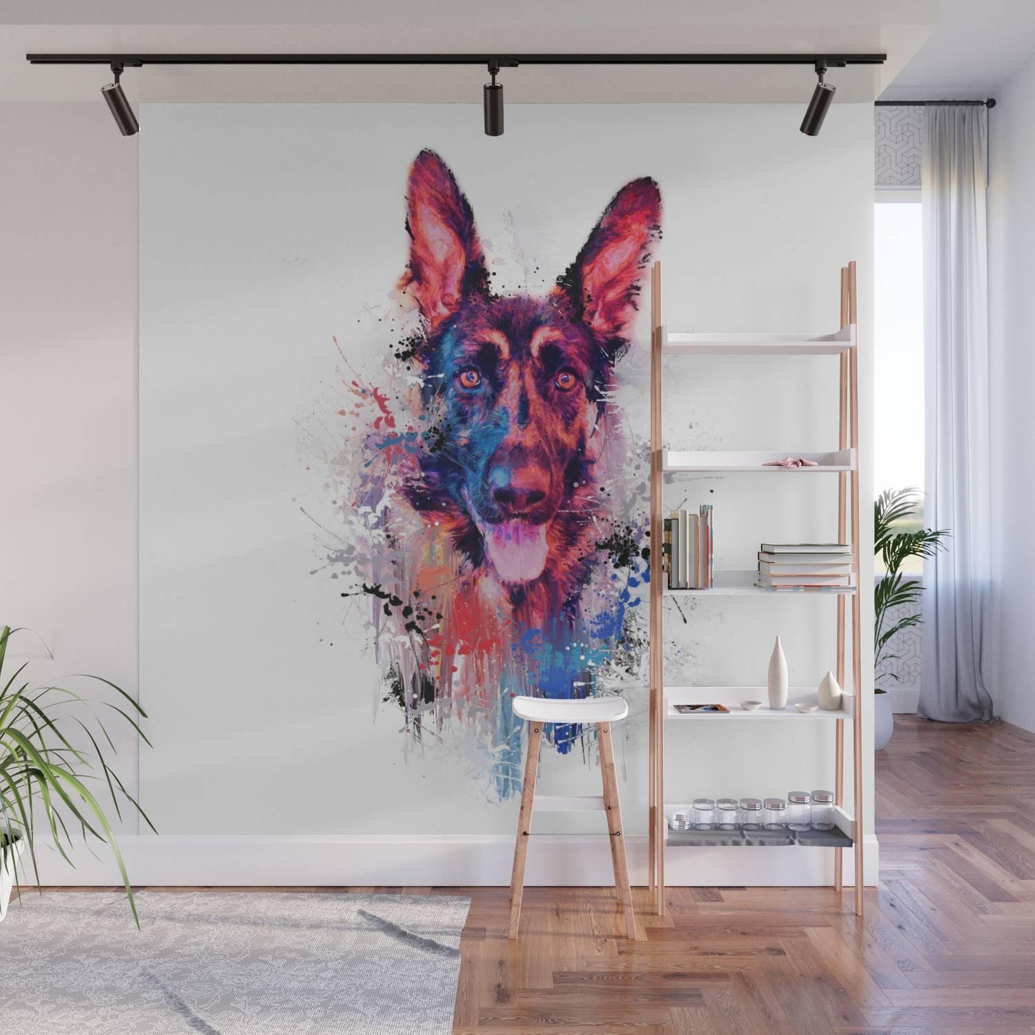 Drippy Jazzy German Shepherd Colorful