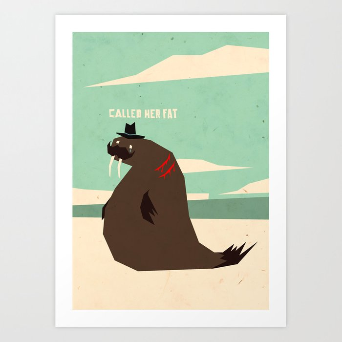 Discover the motif W IS FOR WALRUS by Yetiland as a print at TOPPOSTER