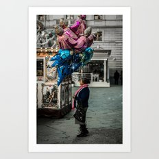 Gypsy with balloons Art Print