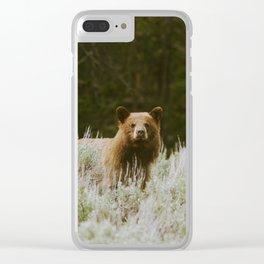 Bush Bear Clear iPhone Case